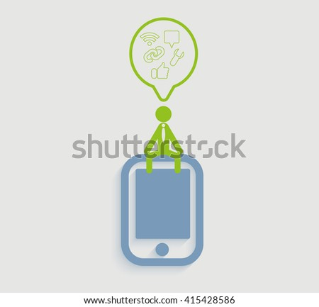 flat design vector illustration concept of business icon. - stock vector