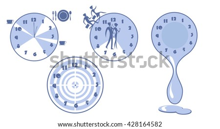 Flat design vector illustration  for productivity, efficiency, 