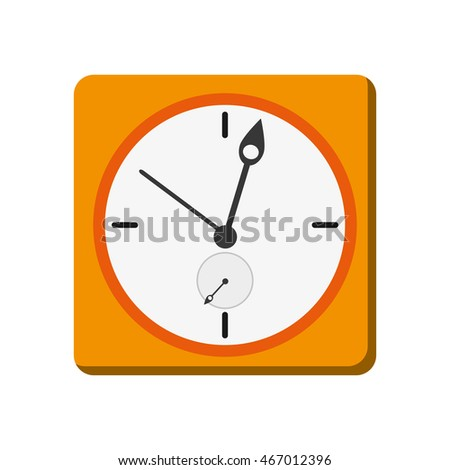 flat design wall clock icon vector illustration
