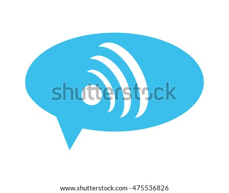 flat design wifi signal within conversation bubble icon vector illustration