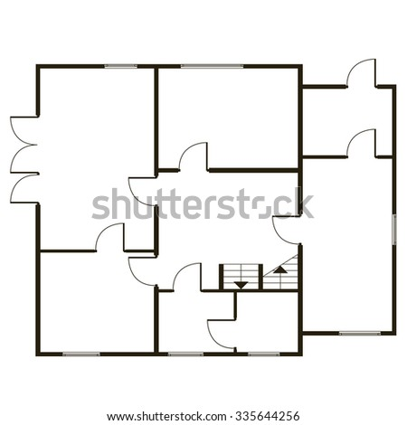 Flat detailed architectural background. Abstract vector blueprint in common path  - stock vector