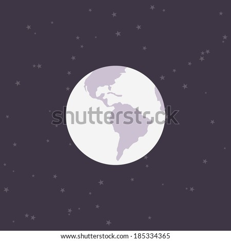 Flat earth minimal design white earth stock photo photo vector flat earth minimal design white earth with purple space background abstract planet malvernweather Gallery