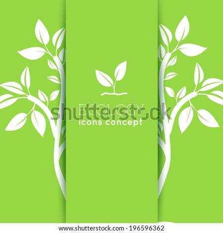 flat eco background concept. Vector illustration design - stock vector