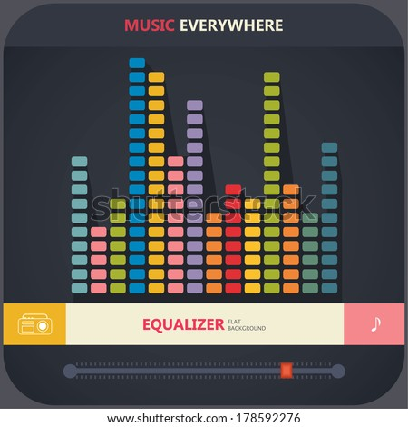 flat equalizer  - stock vector