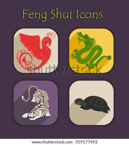 Feng stock images royalty free images vectors - Feng shui good health symbols ...