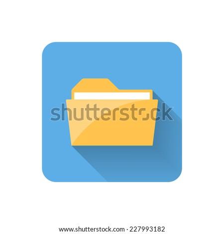 Flat folder icon. Vector illustration - stock vector