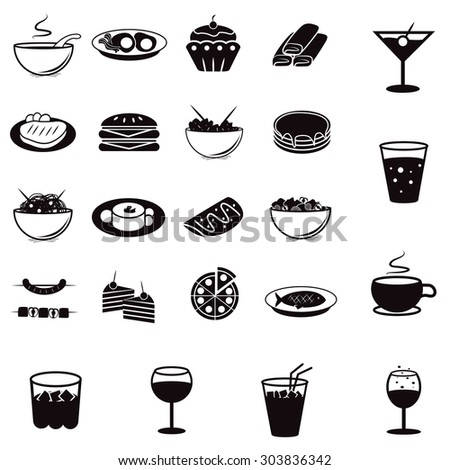 Flat Food Icons Set: Vector Illustration, Graphic Design. Collection Of Colorful Icons. For Web, Websites, Print, Presentation Templates, Mobile Applications And Promotional Materials