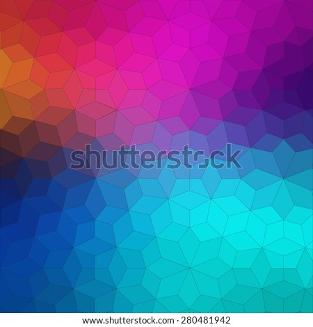 Flat geometric colorful background for web design - stock vector