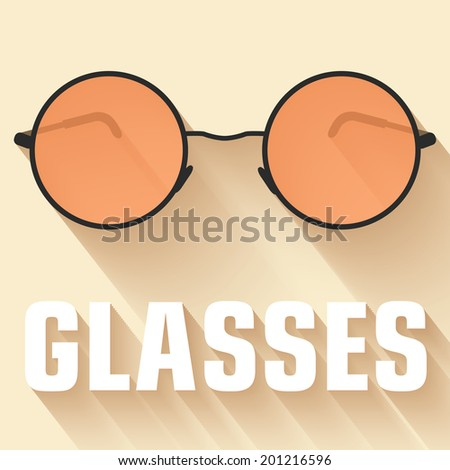 flat glasses background concept. vector illustration - stock vector