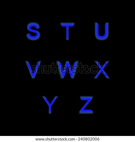 Flat icon alphabet from S-Z - stock vector
