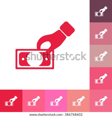 flat icon banknote business theme - stock vector