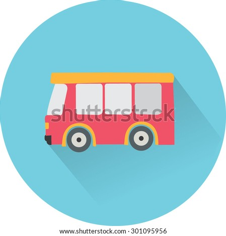 flat icon Bus - stock vector