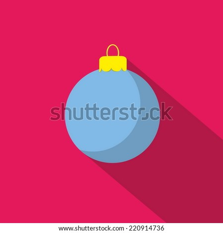 flat icon Christmas ball - stock vector