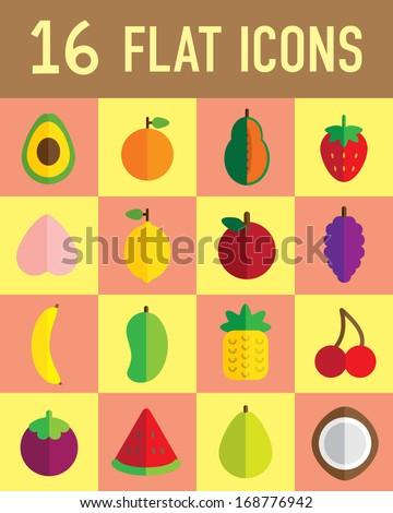 flat icon fruit - stock vector