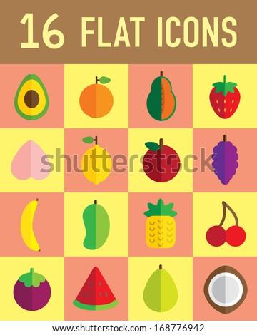 flat icon fruit - stock vector