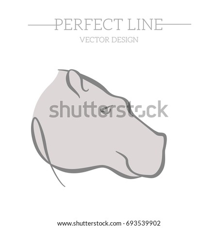 Flat Icon Hippopotamus Element