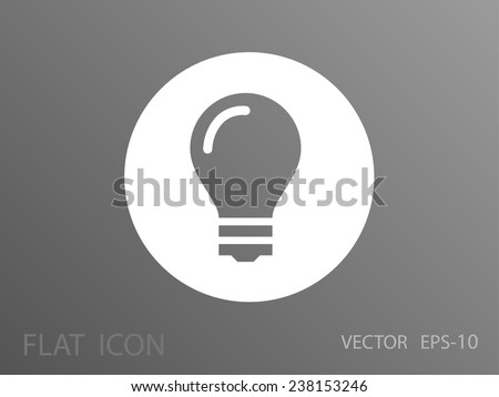 Flat icon of bulb - stock vector