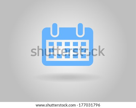 Flat icon of calendar - stock vector