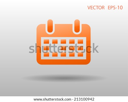 Flat icon of calendar - stock vector