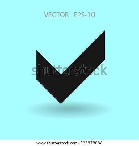 Flat icon of check box. vector illustration