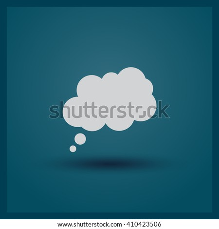 Flat icon of cloud, vector illustration. Flat design style - stock vector
