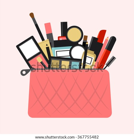 Flat icon of cosmetics product. Vector flat design of make up. Vector flat design of make up procedure. Make up. Make up elements. Make up vector details. Flat illustration of make up. - stock vector