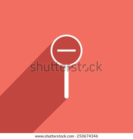 Flat Icon of diminutive magnifier - stock vector