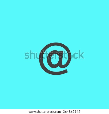 Flat icon of email - stock vector