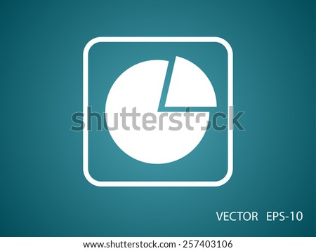 Flat icon of finance graph - stock vector