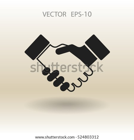 Flat  icon of heandshake. vector illustration