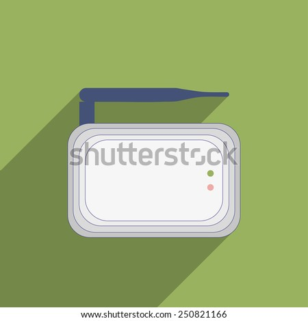 Flat Icon of Internet modem - stock vector
