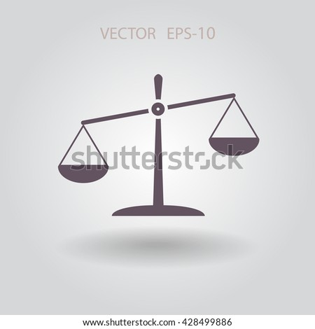 Flat  icon of Justice - stock vector