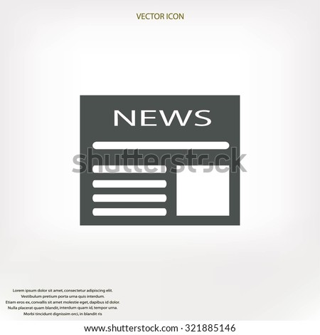 Flat icon of news - stock vector