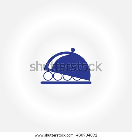 Flat icon of platter - stock vector