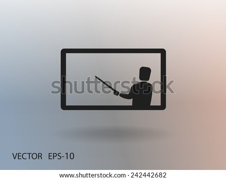 Flat  icon of presentation - stock vector