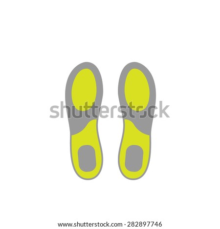 Flat Icon of Shoe Insoles Isolated on White Background. Vector Illustration - stock vector