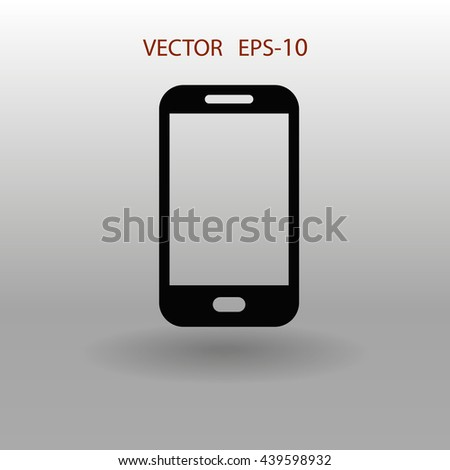 Flat icon of smartphone - stock vector