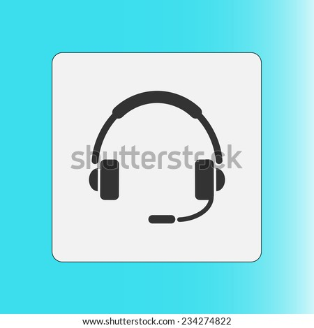 Flat icon of support - stock vector