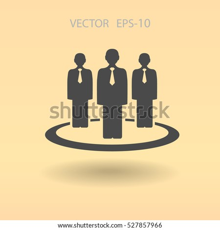 Flat icon of team work. vector illustration