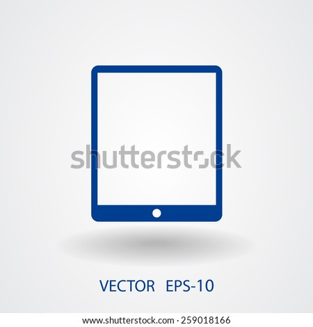 Flat icon of touchpad - stock vector