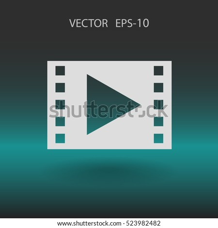 Flat icon of video. vector illustration