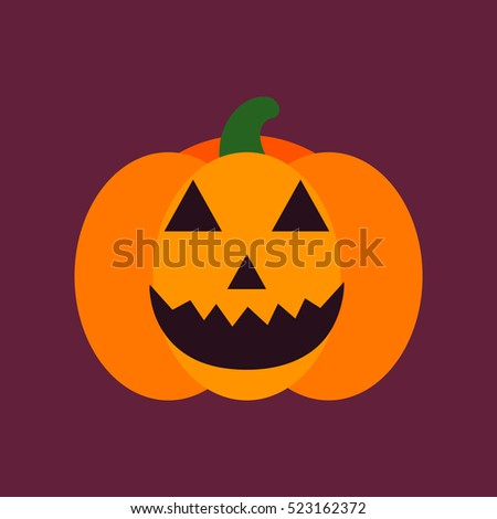 flat icon stylish background halloween pumpkin