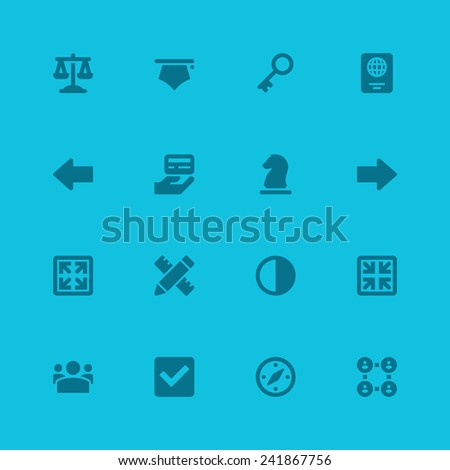 Flat icons vector set web design, infographics, ui and mobile apps. Objects, business, office, communication and marketing items