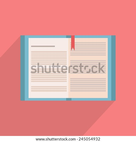 Flat illustration of the book  - stock vector