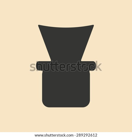 Flat in black and white mobile application shisha bowl - stock vector