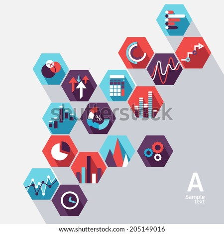 Flat infographic design - stock vector