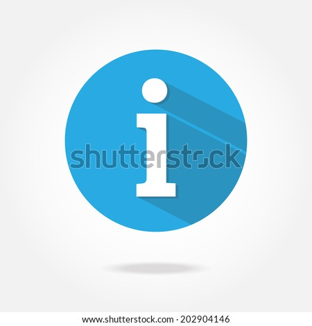 Flat information icon. - stock vector