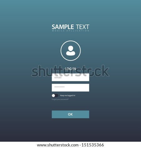 Flat Login Template Background / EPS10 Vector Illustration / - stock vector