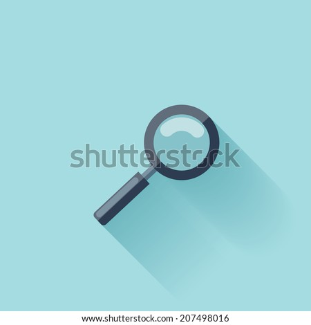 Flat loupe icon - stock vector