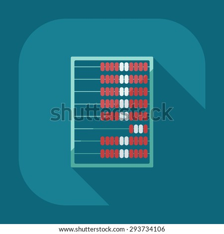 Flat modern design with shadow abacus icon